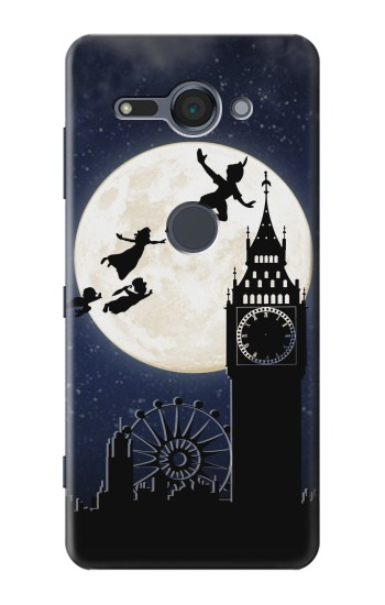 Printed Peter Pan Fly Fullmoon Night Sony Xperia XZ2 Compact Case
