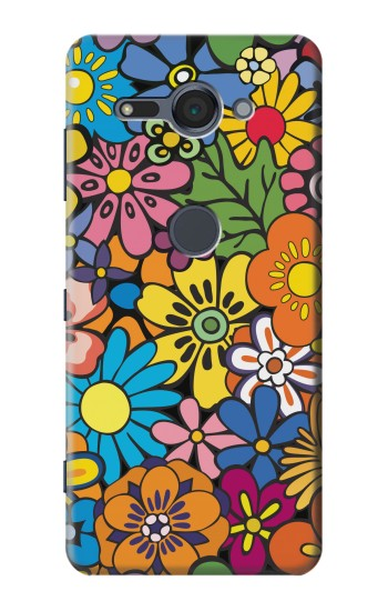 Printed Colorful Flowers Pattern Sony Xperia XZ2 Compact Case