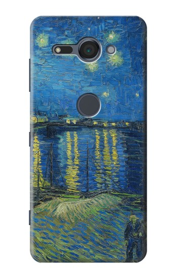 Printed Van Gogh Starry Night Over Rhone Sony Xperia XZ2 Compact Case