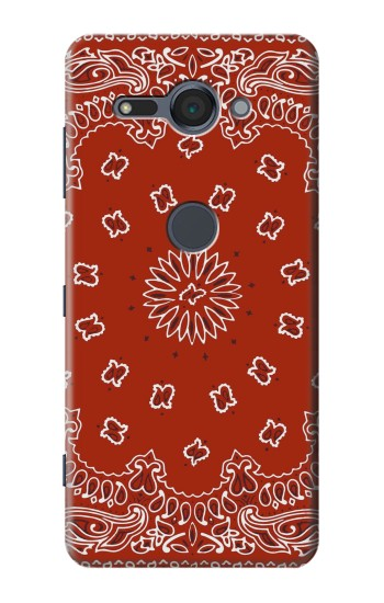 Printed Bandana Red Pattern Sony Xperia XZ2 Compact Case