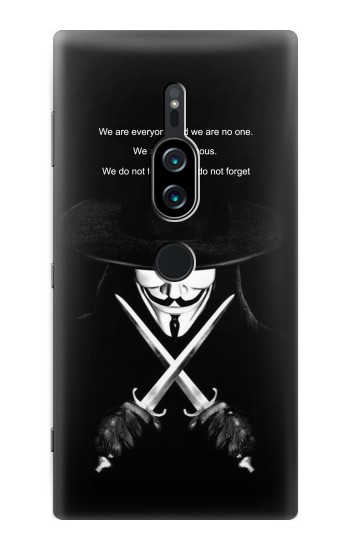 Printed V Mask Guy Fawkes Anonymous Sony Xperia XZ2 Premium Case