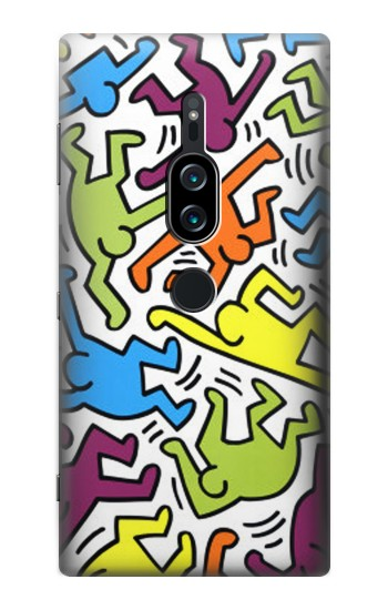 Printed Keith Haring Sony Xperia XZ2 Premium Case