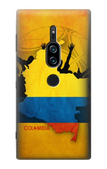 Printed Colombia Football Flag Sony Xperia XZ2 Premium Case