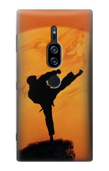 Printed Kung Fu Karate Fighter Sony Xperia XZ2 Premium Case