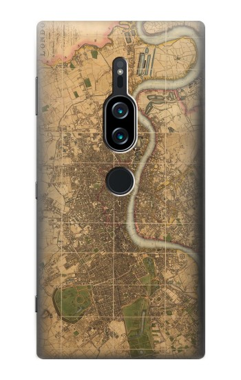 Printed Vintage Map of London Sony Xperia XZ2 Premium Case