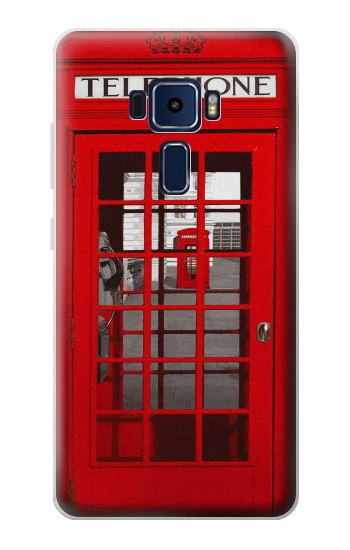 Printed Classic British Red Telephone Box Asus Zenfone 3 Deluxe ZS570KL Case