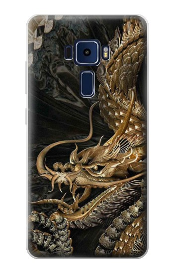 Printed Gold Dragon Asus Zenfone 3 Deluxe ZS570KL Case
