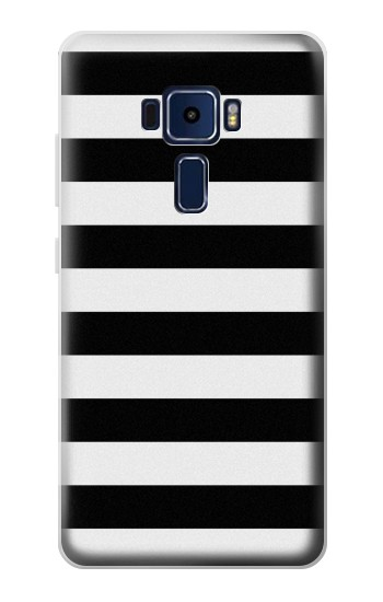 Printed Black and White Striped Asus Zenfone 3 Deluxe ZS570KL Case