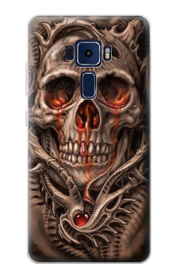 Printed Skull Blood Tattoo Asus Zenfone 3 Deluxe ZS570KL Case
