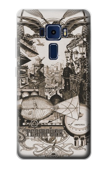 Printed Steampunk Drawing Asus Zenfone 3 Deluxe ZS570KL Case