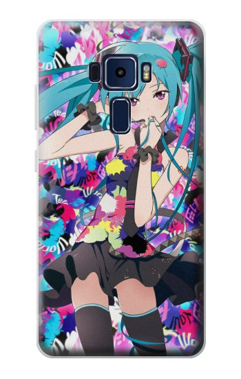 Printed Vocaloid Hatsune Miku Tell Your World Asus Zenfone 3 Deluxe ZS570KL Case