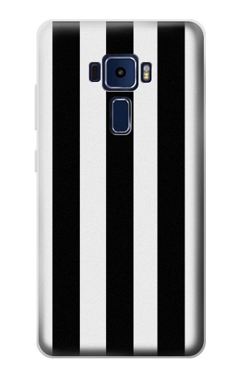Printed Black and White Vertical Stripes Asus Zenfone 3 Deluxe ZS570KL Case