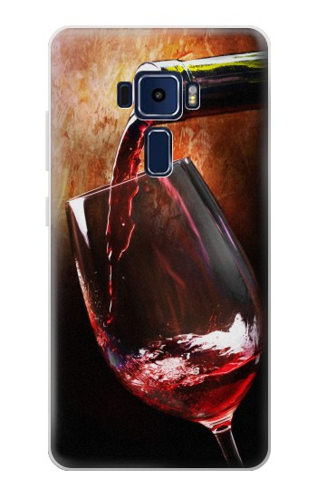 Printed Red Wine Bottle And Glass Asus Zenfone 3 Deluxe ZS570KL Case