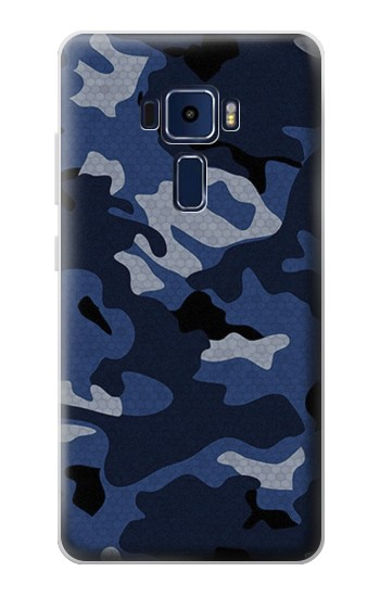 Printed Navy Blue Camouflage Asus Zenfone 3 Deluxe ZS570KL Case