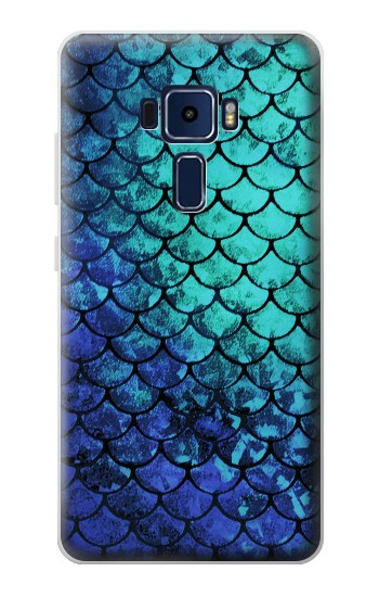 Printed Green Mermaid Fish Scale Asus Zenfone 3 Deluxe ZS570KL Case