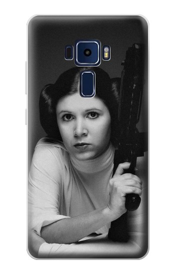 Printed Princess Leia Carrie Fisher Asus Zenfone 3 Deluxe ZS570KL Case