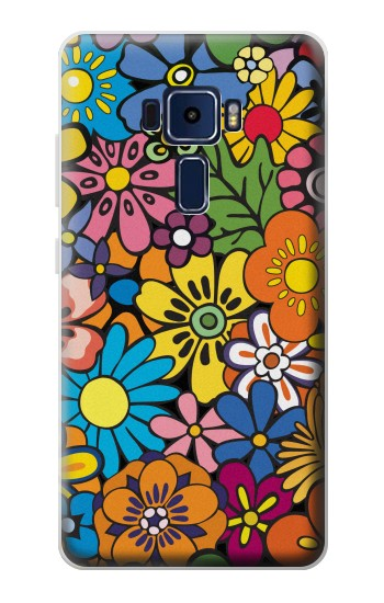 Printed Colorful Flowers Pattern Asus Zenfone 3 Deluxe ZS570KL Case