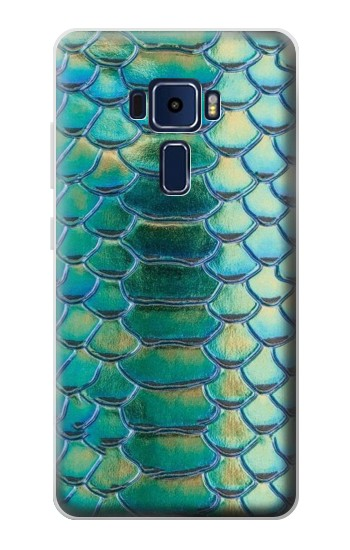 Printed Green Snake Scale Graphic Print Asus Zenfone 3 Deluxe ZS570KL Case