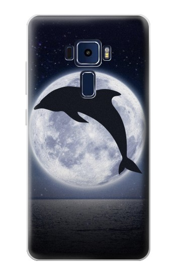 Printed Dolphin Moon Night Asus Zenfone 3 Deluxe ZS570KL Case