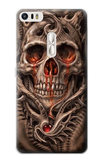 Printed Skull Blood Tattoo Asus Zenfone 3 Ultra ZU680KL Case