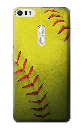 Printed Yellow Softball Ball Asus Zenfone 3 Ultra ZU680KL Case