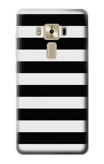 Printed Black and White Striped Asus Zenfone 3 ZE520KL Case