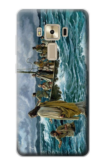 Printed Jesus Walk on The Sea Asus Zenfone 3 ZE520KL Case