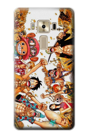 Printed One Piece Straw Hat Luffy Pirate Crew Asus Zenfone 3 ZE520KL Case