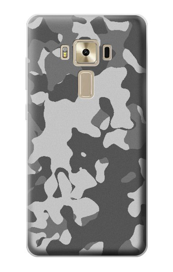 Printed Gray Camo Camouflage Graphic Printed Asus Zenfone 3 ZE520KL Case