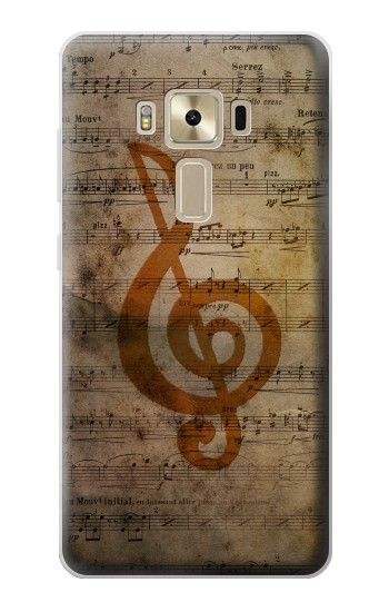 Printed Sheet Music Notes Asus Zenfone 3 ZE520KL Case