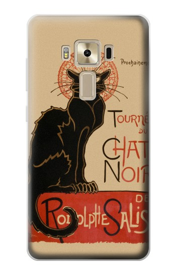 Printed Chat Noir The Black Cat Asus Zenfone 3 ZE520KL Case