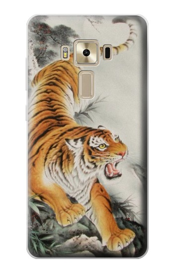 Printed Chinese Tiger Tattoo Painting Asus Zenfone 3 ZE520KL Case