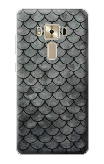 Printed Silver Fish Scale Asus Zenfone 3 ZE520KL Case