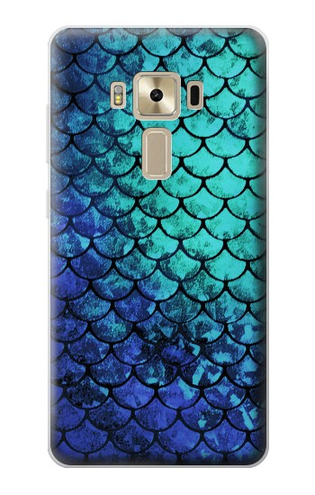 Printed Green Mermaid Fish Scale Asus Zenfone 3 ZE520KL Case