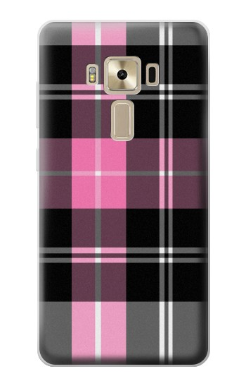 Printed Pink Plaid Pattern Asus Zenfone 3 ZE520KL Case