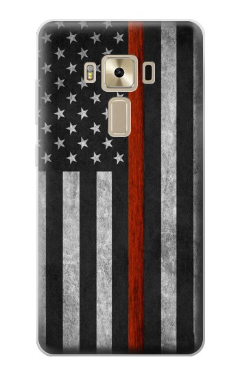 Printed Firefighter Thin Red Line Flag Asus Zenfone 3 ZE520KL Case
