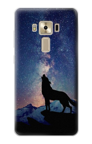 Printed Wolf Howling Million Star Asus Zenfone 3 ZE520KL Case