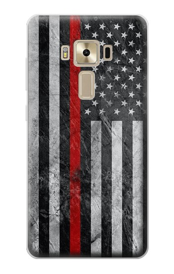 Printed Firefighter Thin Red Line American Flag Asus Zenfone 3 ZE520KL Case