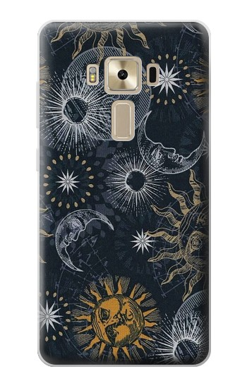 Printed Moon and Sun Asus Zenfone 3 ZE520KL Case