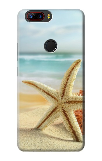 Printed Starfish on the Beach ZTE nubia Z17s Case