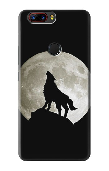 Printed Wolf Howling at The Moon ZTE nubia Z17s Case