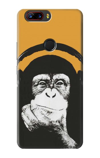Printed Funny Monkey with Headphone Pop Music ZTE nubia Z17s Case