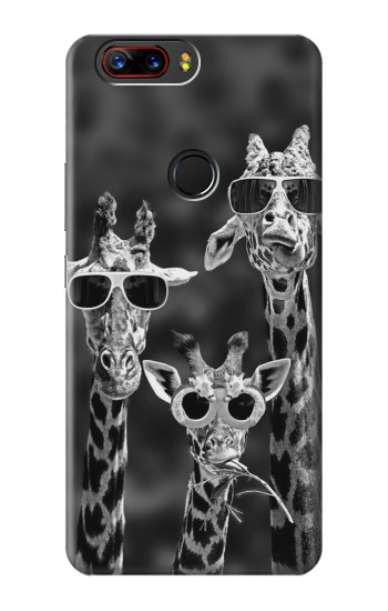 Printed Giraffes With Sunglasses ZTE nubia Z17s Case