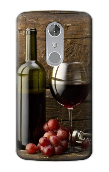 Printed Grapes Bottle and Glass of Red Wine ZTE Axon mini Case