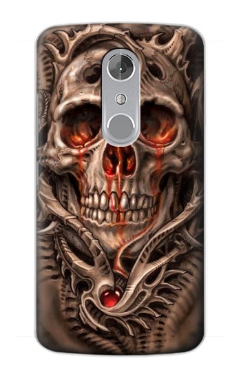 Printed Skull Blood Tattoo ZTE Axon mini Case