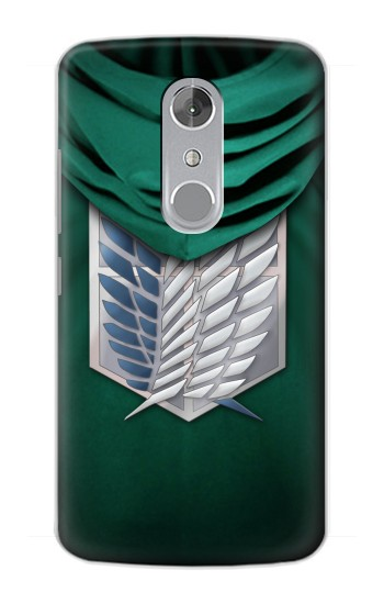 Printed Attack on Titan Scouting Legion Rivaille Green Cloak ZTE Axon mini Case