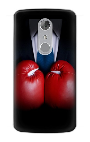 Printed Businessman In Black Suit With Boxing Gloves ZTE Axon mini Case