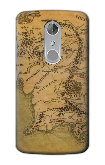 Printed The Lord Of The Rings Middle Earth Map ZTE Axon mini Case