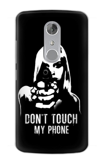 Printed Girl Do Not Touch My Phone ZTE Axon mini Case