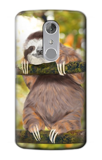 Printed Cute Baby Sloth Paint ZTE Axon mini Case